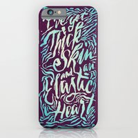 iPhone Cases featuring Elastic Heart Color by Jillian Adel