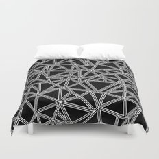 Abstract New White on Black Duvet Cover