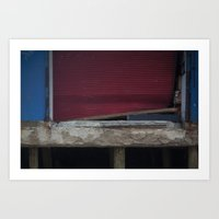 Red Gate, After Sandy Art Print