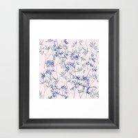 Exotic Blue Framed Art Print