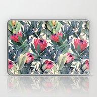 Painted Protea Pattern Laptop & iPad Skin