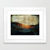Dawning Hills Framed Art Print