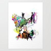 Communication Of Two Art Print