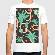 Jungle pattern Mens Fitted Tee SMALL White