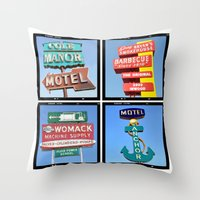 Vintage Signs Composite … Throw Pillow