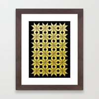 Golden Snow Framed Art Print