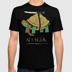ninja SMALL Black Mens Fitted Tee