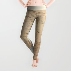 Map of Middle Earth Leggings