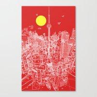 Toronto! Red (Version #2) Canvas Print