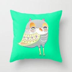owl illustration, owl print, owl art Throw Pillow