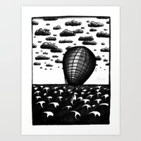 Sea Balloon Art Print