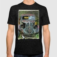 OldTruck Mens Fitted Tee Tri-Black SMALL