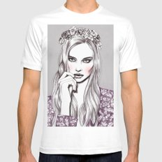 Violet Mens Fitted Tee SMALL White