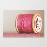 m is for magenta Canvas Print