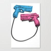 dual-wielding Canvas Print