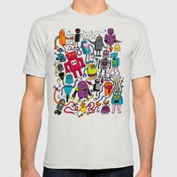 Robots 2 Mens Fitted Tee Silver SMALL
