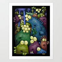 Crowded Aliens Art Print