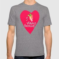 i heart strawberries Mens Fitted Tee Tri-Grey SMALL