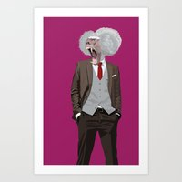 Baboon Wearing William F… Art Print