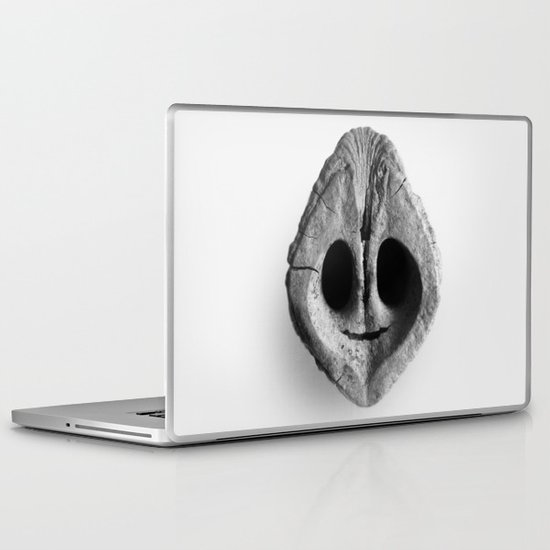 Black Walnut Smile Laptop & iPad Skin
