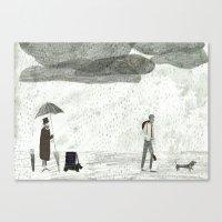 Umbrella Seller Canvas Print