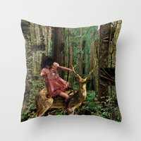 Deerlove | Collage Throw Pillow