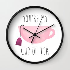 You're My Cup Of Tea Wall Clock