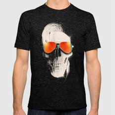 Summer Skull Mens Fitted Tee Tri-Black SMALL