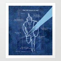 Full Armor of God - Warrior 2 Art Print