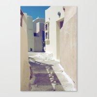 Canvas Print featuring Santorini Walkway II by istillshootfilm