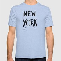 New York Mens Fitted Tee Athletic Blue SMALL
