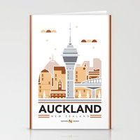 City Illustrations (Auckland, New Zealand) Stationery Cards