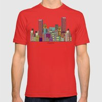 Miami Mens Fitted Tee Red SMALL