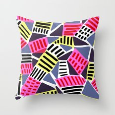 Triangles and Dashes Throw Pillow