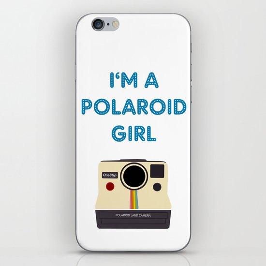 Polaroid Girl - Offshoot print iPhone & iPod Skin