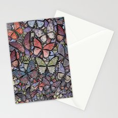 butterflies galore grunge version Stationery Cards