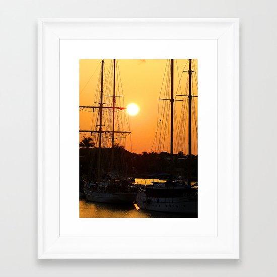 Nadi Harbour, Fiji Framed Art Print