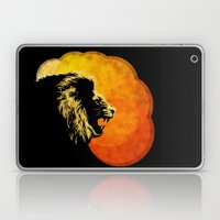NIGHT PREDATOR : lion silhouette illustration print Laptop & iPad Skin