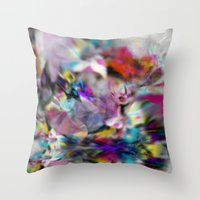 Crystal print Throw Pillow