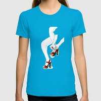 Red Shoes Womens Fitted Tee Teal SMALL