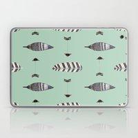 Feather Arrow Blue Laptop & iPad Skin