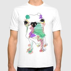 Bostoncolour White Mens Fitted Tee SMALL