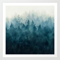 forest Art Prints featuring The Heart Of My Heart // So Far From Home Edit by Tordis Kayma