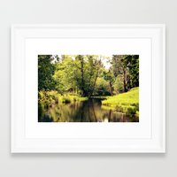 a tree by the river Framed Art Print