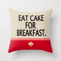 Kate Spade Inspired Eat … Throw Pillow