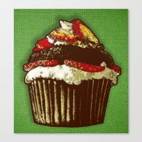 Strawberry Cake Canvas Print