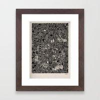 - blackout - Framed Art Print