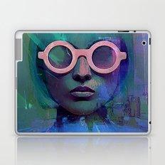 Pink Glasses girl Laptop & iPad Skin
