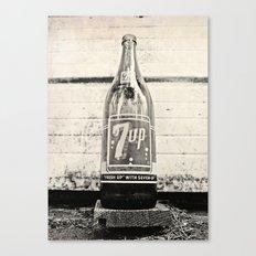 Old Seven-Up bottle Canvas Print