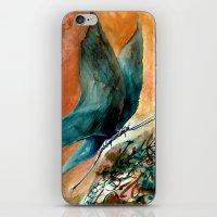mavi kelebek iPhone & iPod Skin